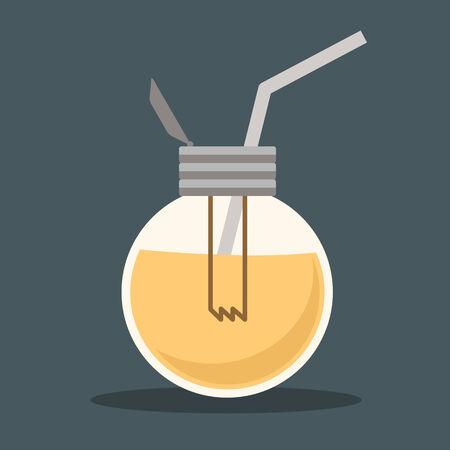 lightbulb idea drink vector Vector