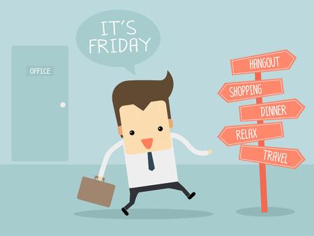d�tente: Ouvrier dans vendredi apr�s les activit�s de travail
