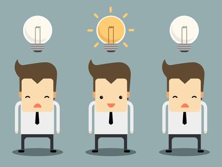 main course: businessman have an idea