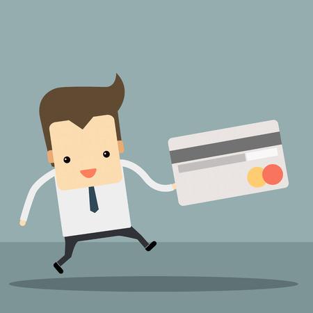 businessman with credit card vector Banco de Imagens - 28304519