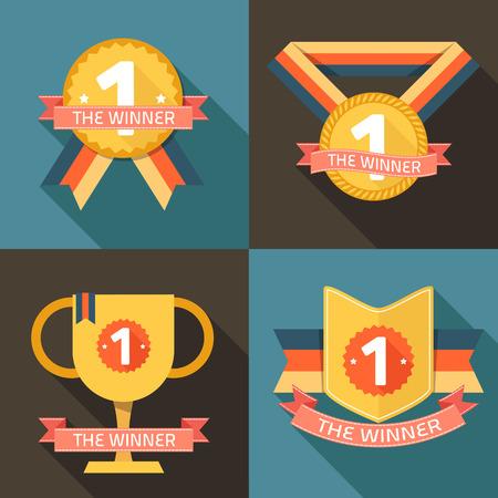 vítěz: vítěz první cenu vektor