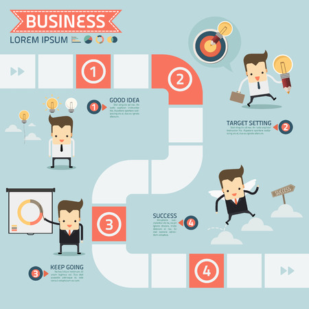 step for success business concept vector Reklamní fotografie - 32542633