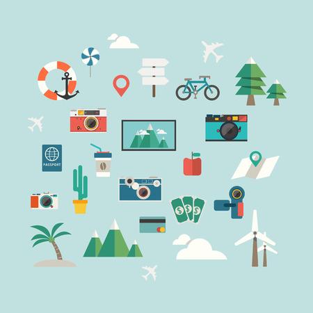 travel icon vector Ilustração