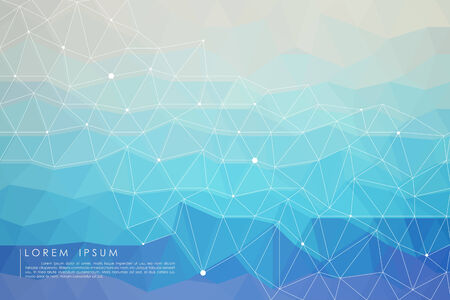 decorative background: polygon abstract background vector