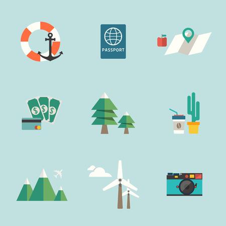 travel icon: reizen pictogram Stock Illustratie