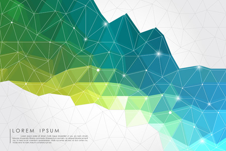 web2: polygon abstract background vector