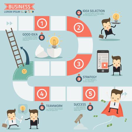pizarra: paso para el �xito concepto de negocio Vectores