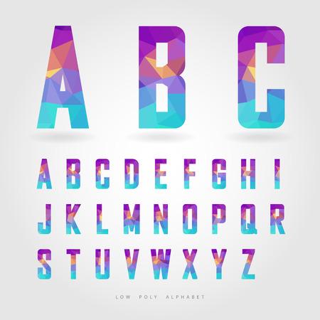 abecedario: bajo alfabeto poli en pol�gono vector de concepto Vectores