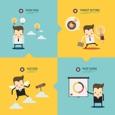 step for success business concept vector Banco de Imagens - 37152198