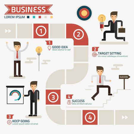 TApe pour le succès concept d'entreprise vecteur Banque d'images - 39590144