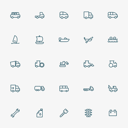 monorail: transportation line icons vector Illustration