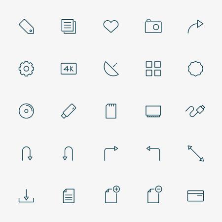 minimal: web minimal line icons vector Illustration