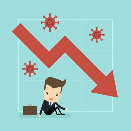 business owner in coronavirus crisis vector Ilustração