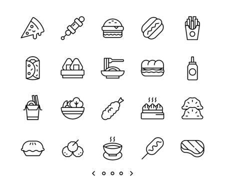 food line icon set vector Ilustração