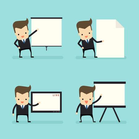 businessman in presentation concept vector