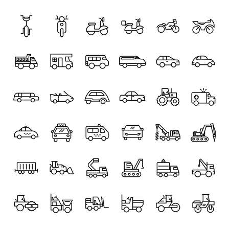 transportation 36 outline icon vector