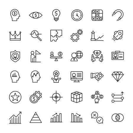 business and web 36 outline icon vector Banco de Imagens - 152662807