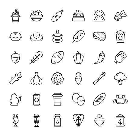 food and beverage 36 outline icon vector Banco de Imagens - 152662812