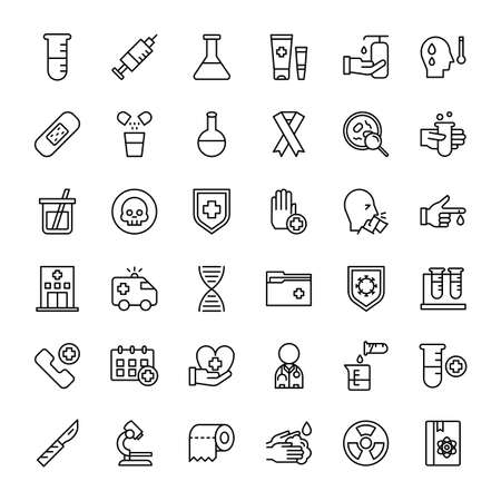 hospital and medical 36 outline icon vector