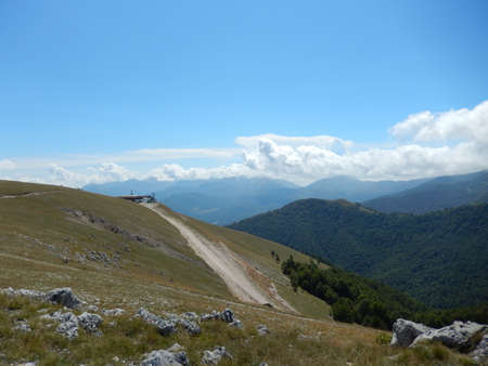 abruzzo: The mountains of Pescasseroli, Abruzzo, Italy