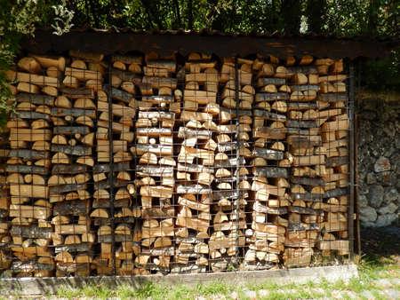 abruzzo: Woodpile in Abruzzo Stock Photo