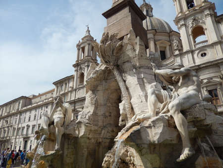 navona: The Fountain of the Four Rivers in Piazza Navona