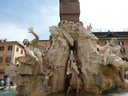 beauties: The Fountain of the Four Rivers in Piazza Navona