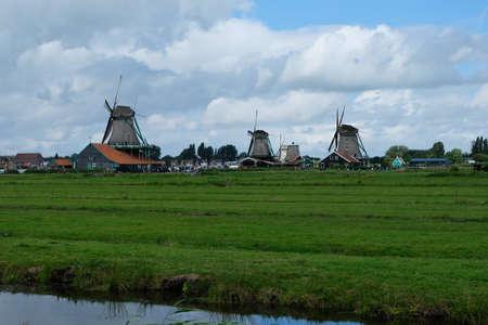 Zaanse Schans view Stock Photo