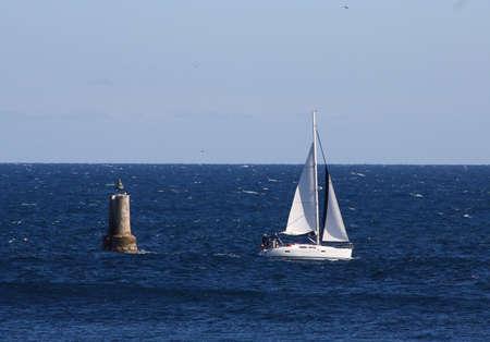 La Ciotat yacht Stock Photo