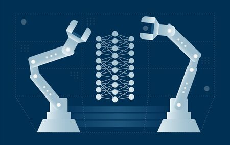 Artificial neural network produced by ai robots.