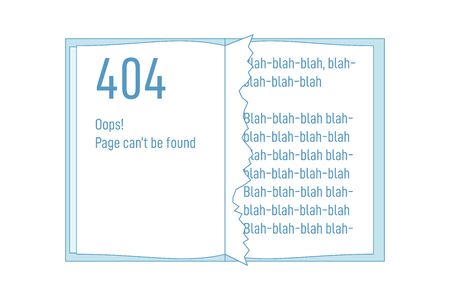 Book or notebook with 404 torn out page