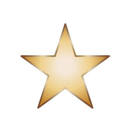 Simple five corners star. Yellow, golden color star shape. Award symbol. Flat vector illustration Banque d'images - 132084515