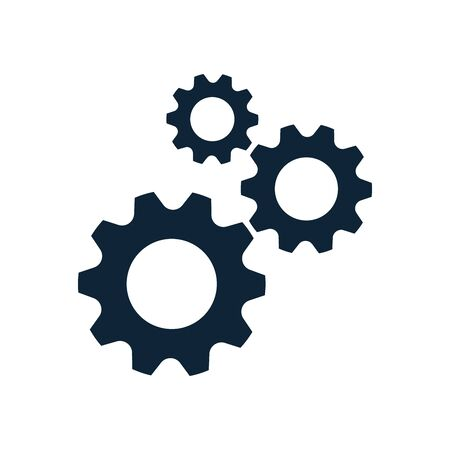 Three cog wheels, gear icon. System settings, technical service concept. Tuning, setup system settings symbols. Gear icon. Vector illustration