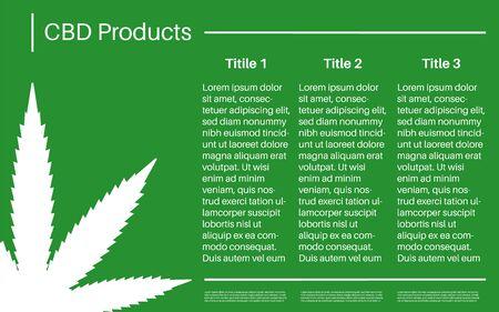 Medical hemp, marijuana, CBD oil, products presentation