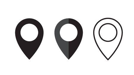 Pin navigation icon. Map pin symbol, sign.