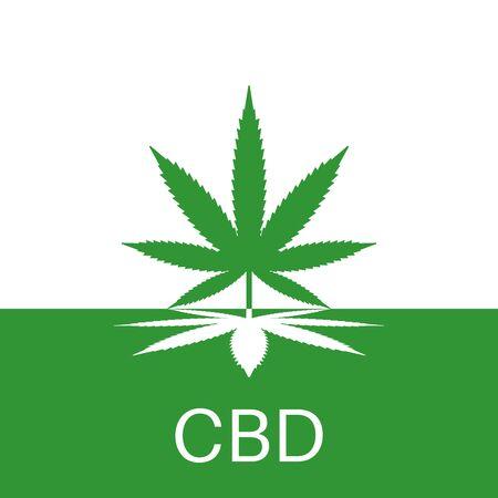 Medical hemp, marijuana icon. Medical cannabis leaf symbol