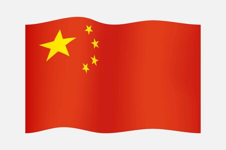 Five starred red Flag of China. National flag