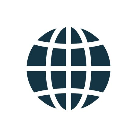 Globe, planet icon, sign. Internet, global sphere