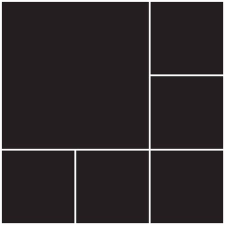 Photo collage background. Photo collage template, pattern with black background. Applicable for frame, poster or gallery design.