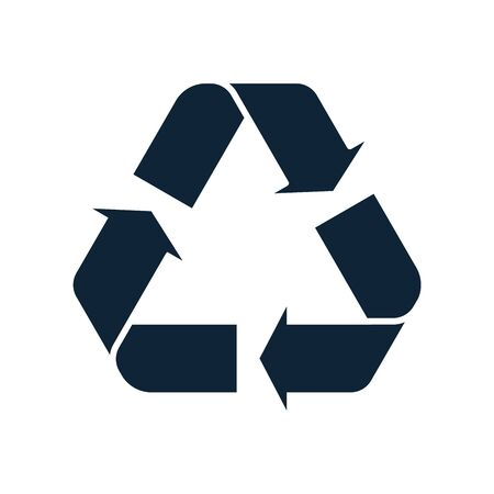 Glyph Recycle icon. Mobius loop. Recycling sign