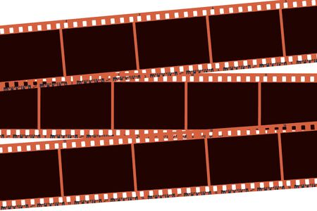Photo collage made of photo camera blank frames. Retro 35 mm color camera filmstrip. Negative camera roll. Applicable as collage. Vector illustration Иллюстрация