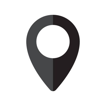 Pin navigation icon. Map pin symbol, sign. Map location pointer symbol. Vector illustration