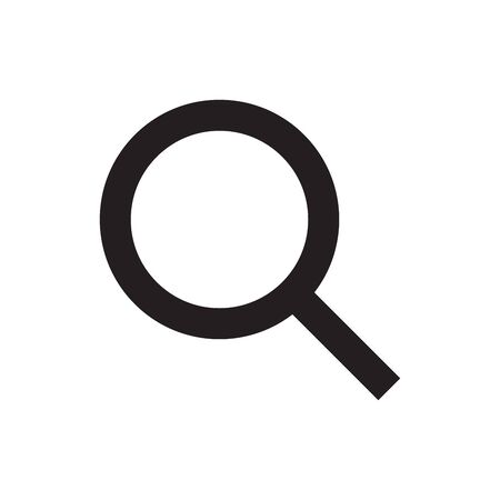 Magnifying glass icon. Search, find, seek icon. Look, seek magnifying glass symbol. Flat vector illustration. Иллюстрация