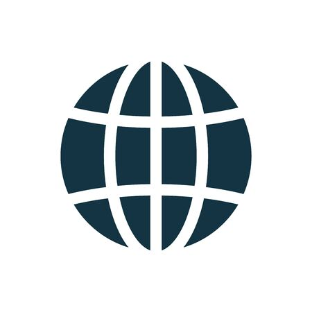 Globe, planet icon set. Internet, global sphere glyph icon. Earth icon. Global symbol, sign Vector illustration Иллюстрация