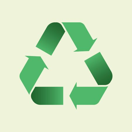 Gradient Glyph Recycle icon. Mobius loop. Recycling triangle symbols with arrows. Recycle flat symbol. Ecological sign. Vector illustration