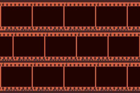 Collage de photos composé de cadres vierges d'appareils photo. Pellicule de caméra couleur rétro 35 mm. Rouleau de caméra négatif. Applicable comme collage. Illustration vectorielle Vecteurs