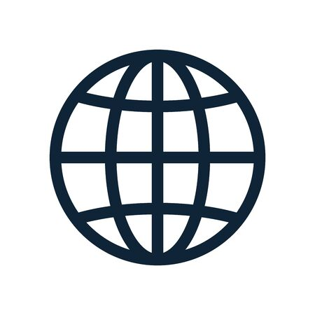 Globe, planet icon set. Internet, global sphere line icon. Earth icon. Global symbol, sign. Vector illustration