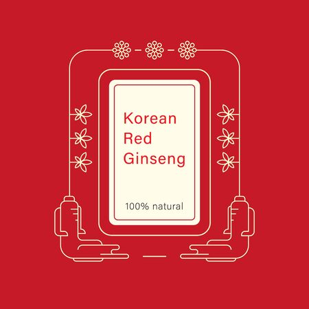 Red korean or chinese ginseng root .