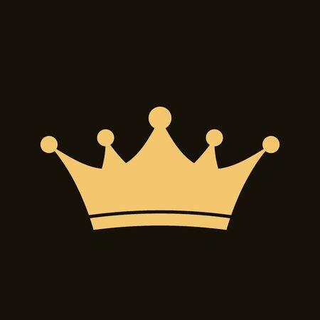 Golden crown icon. Royal, luxury symbol. King, queen, princess crown. Premium awards. Royal, deluxe symbol. Queen sign. Vector illustration Stock Illustratie