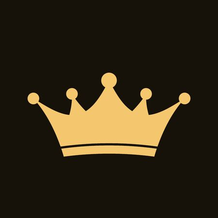 Golden crown icon. Royal, luxury symbol. King, queen, princess crown. Premium awards. Royal, deluxe symbol. Queen sign. Vector illustration Illustration